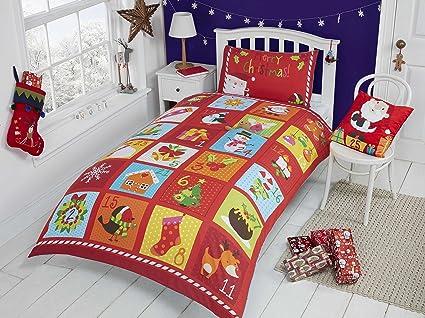 Christmas kids parure letto natilizia con copripiumino e federa