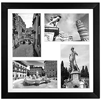 collage picture frame displays four 4x6 inch photos two landscape pictures two portrait