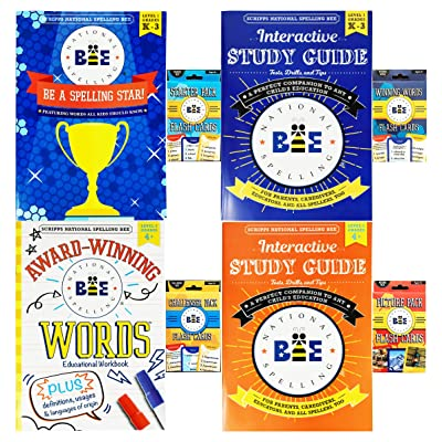 Kappa Set Scripps National Spelling Bee Work Books Flash Cards! The Ultimate Study Guides Spelling Bee's! (Complete Spelling Bee Study Set): Toys & Games