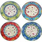 "Certified International 17275SET/4 Annabelle Dinner Plates (Set of 4), 11"", Multicolor"