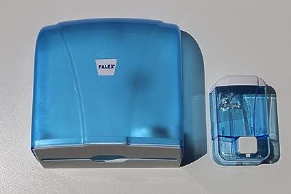 NOVA - Lote de dispensador de toallas y dispensador de jabón, color azul