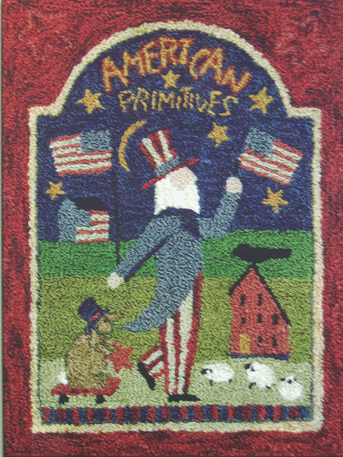 American Primitives PN341 Uncle Sam Flag Punchneedle Punch Needle Embroidery Teresa Kogut Pattern