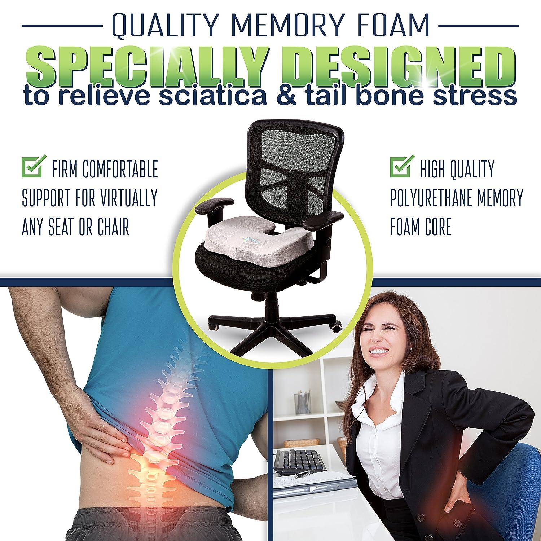 Amazon fyWise Coccyx Orthopedic Memory Foam Seat Cushion