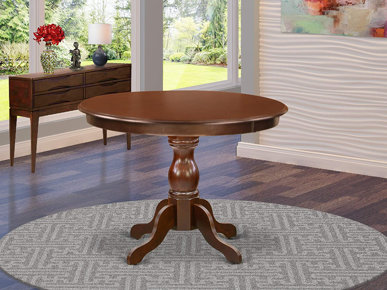 East West Furniture HBT-MAH-TP Table, Round