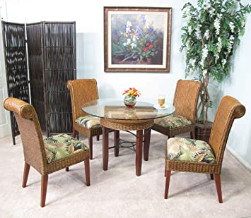Fine Panama Rattan Wicker Dining Chair Table 5 Piece Set Gmtry Best Dining Table And Chair Ideas Images Gmtryco
