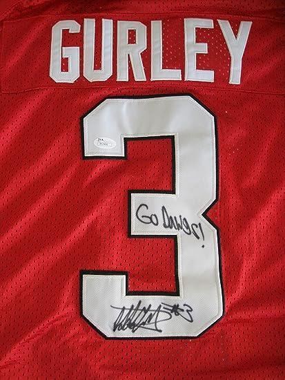 wholesale dealer 5e29a 58309 Todd Gurley Autographed/Signed Georgia Bulldogs Rams Jersey ...