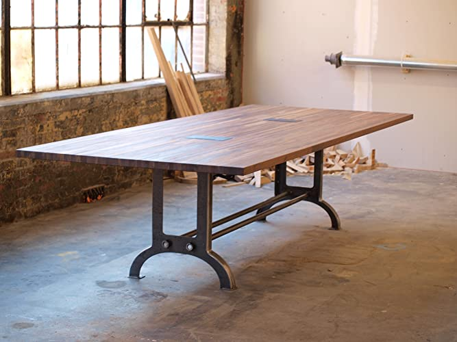 Amazoncom Large Walnut Industrial Conference Or Dining Room Table - Industrial conference room table