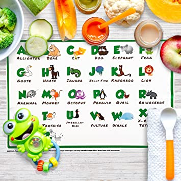 Disposable Placemats 60 Pack Children/'s ABC Topper for Table 20 Pack
