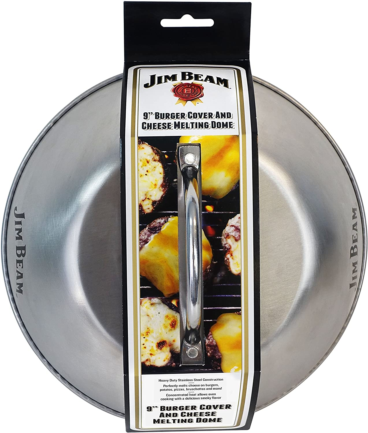 Jim Beam JB0181 9 Burger Cover and Cheese Melting Dome, Silver