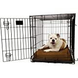 "Orthopedic 4"" Dog Crate Pad by Big Barker. Waterproof & Tear Resistant. Thick, Heavy Duty, Tough, Washable Cover. Luxury…"