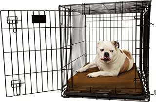 "product image for Orthopedic 4"" Dog Crate Pad by Big Barker. Waterproof & Tear Resistant. Thick, Heavy Duty, Tough, Washable Cover. Luxury Orthopedic Support Foam inside. Sized to perfectly fit inside standard crate sizes. Made in USA."