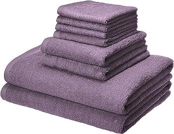 AmazonBasics Quick-Dry 100% Cotton 8-Piece Towels Set
