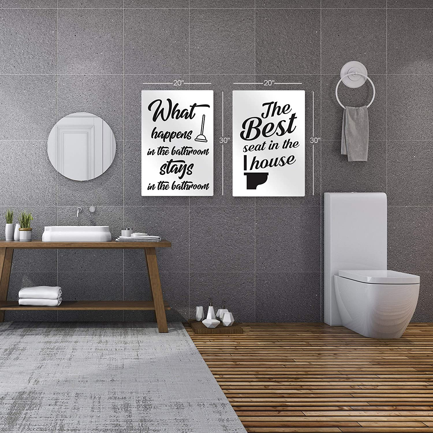 Amazon Com Smile Art Design The Best Seat In The House Funny Quote Saying Bathroom Decor 2 Pieces Metal Print Set Toilet Funny Bathroom Sign Bathroom Wall Decor Wall Art Ready To Hang