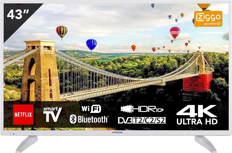 Hitachi 43HK6003W - Televisor (43 pulgadas, Ultra HD 4K TV, Smart ...