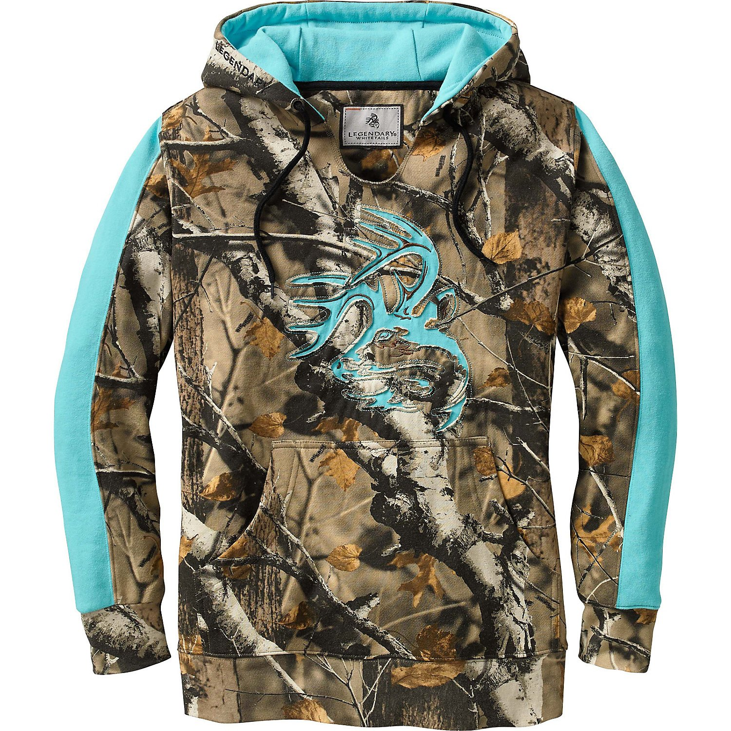 Legendary Whitetails Ladies Outfitter Hoodie Big Game Field Camo Small by Legendary Whitetails (Image #1)