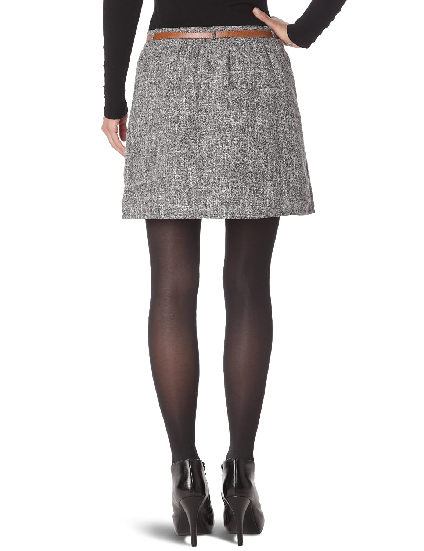 Tom Tailor - Falda Campana para Mujer, Talla 34, Color Gris ...