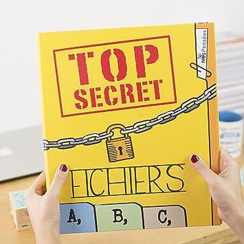 Nos pensées - ARCHIVADOR con frase y dibujo divertido para regalo - SECRETOS/FR: Amazon.es: Oficina y papelería
