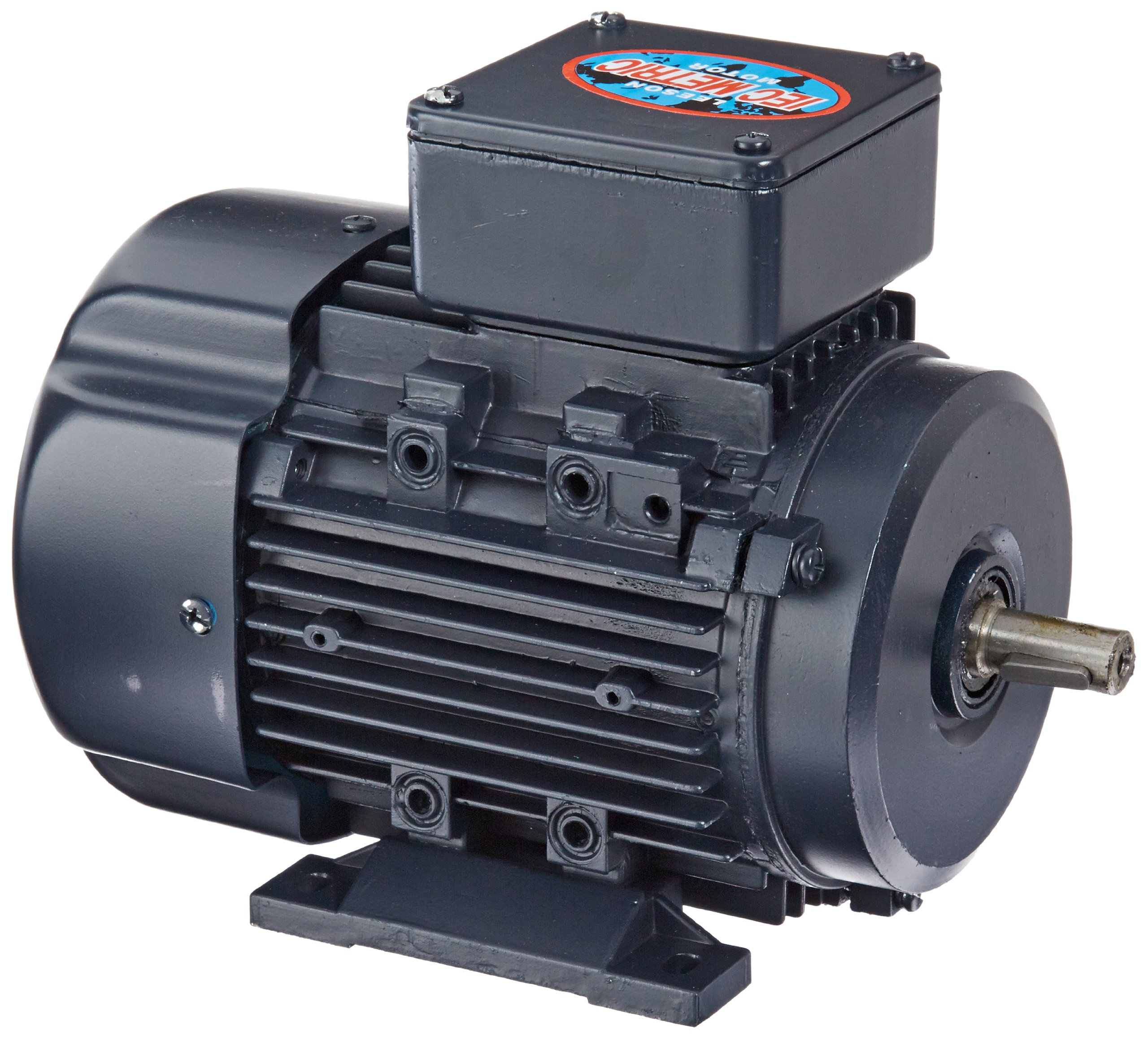 Leeson 192098.00 Rigid Base IEC Metric Motor, 3 Phase, D71 Frame, B3 Mounting, 0.33HP, 1800 RPM, 575V Voltage, 60Hz Fequency