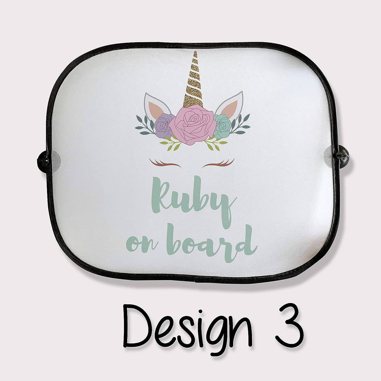 Best Design Personalised Unicorn Theme Car Sunshade Family Gift Ideas