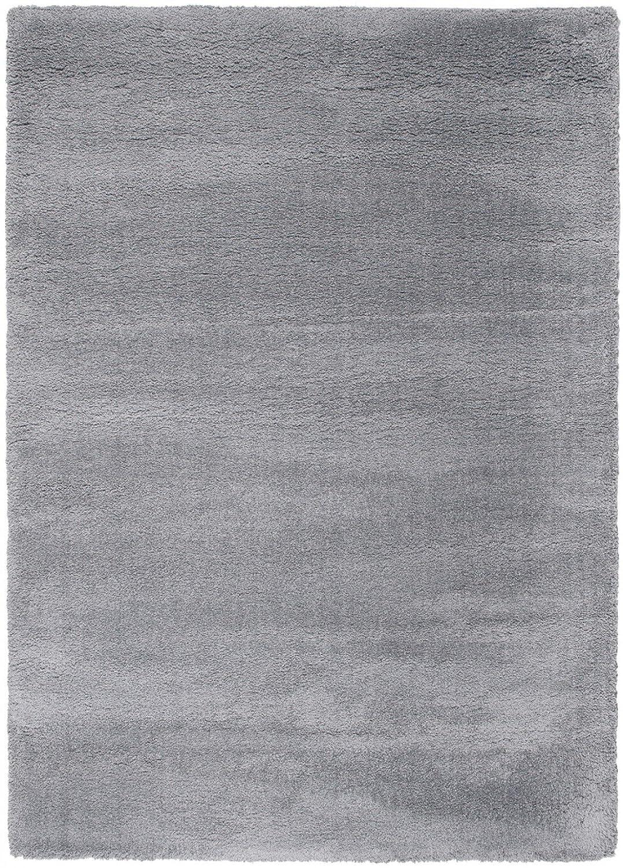 Carpeto Shaggy Teppich Modern Hellgrau 140 x 190 cm Einfarbig Mikrofaser Brilliant Kollektion