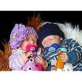Amazon.com: Muñeca de bebé realista y encantadora de color ...