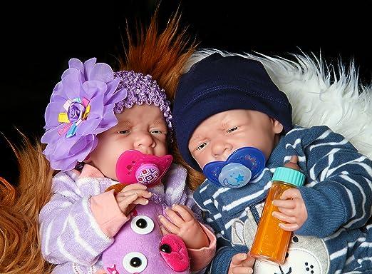 Amazon.com: Reborn Bebés gemelos Cheap Niño y la niña recién ...