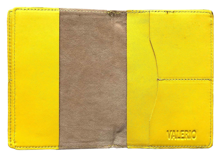 Diseñador VALERIO Hombres Mujeres Reino Unido Protegido RFID Bloqueo Protector para Pasaporte En Cuero Auténtico Y Compartimiento para La Tarjeta De ...