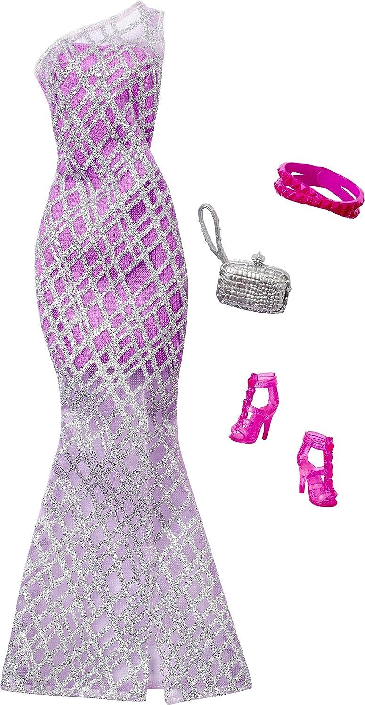 Amazon.es: Barbie Complete Look Fashion Pack, Lavender Gown ...
