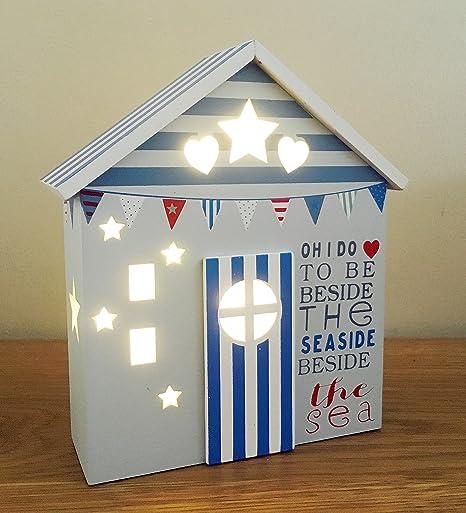 Beside The Seaside Light Up, diseño de caseta de playa regalo nuevo en caja