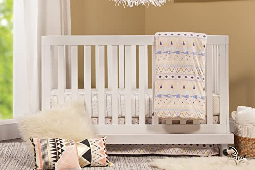 Babymod Olivia 3 in 1 Convertible Crib, White