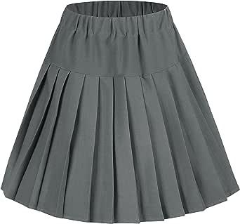 urban GoCo Mujeres Falda Tenis Plisada Cintura Elástica Uniforme Escolar Mini Faldas