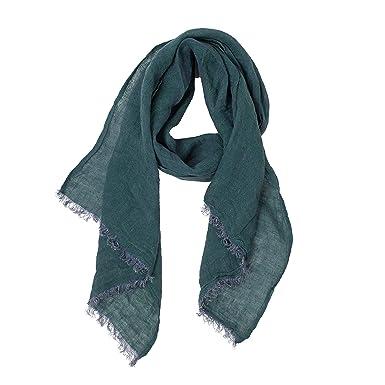 edc212966d2 Dark Green Scarf | 100% Linen Scarf | Scarves For Women | Mens Scarf ...