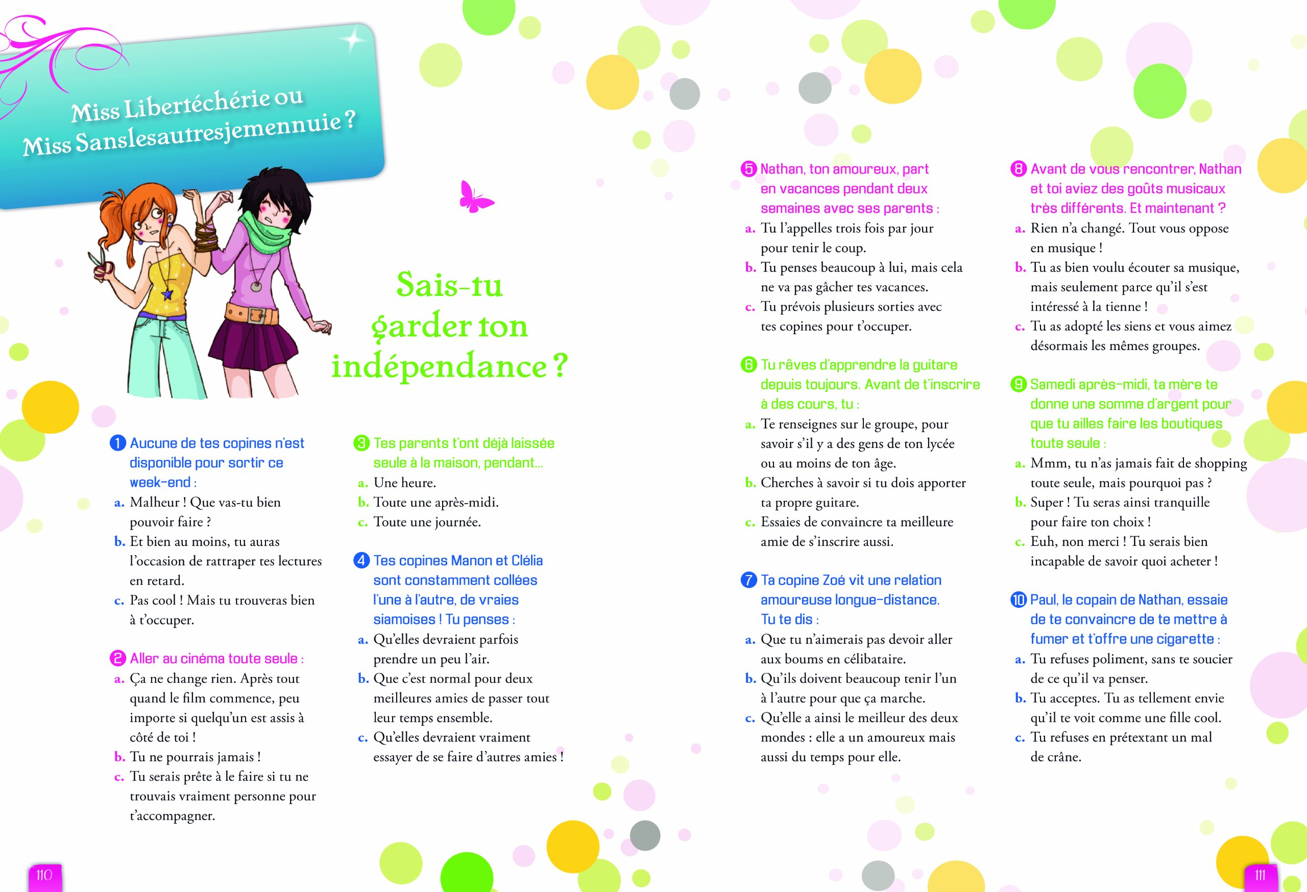 Amazonfr Tests 3 Spécial Amour Et Amitié Pour Les Filles Anne