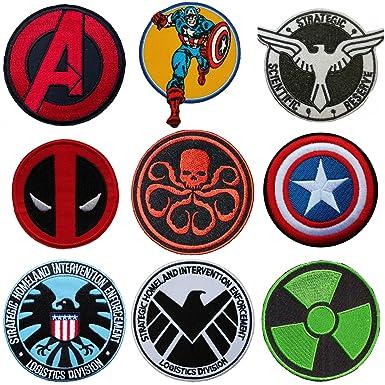 Amazon Marvel Comics Superhero And Villain Assorted Logos 9