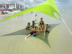 Otentik Beach SunShade - With Sandbag Anchors