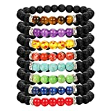Amazon Price History for:LOLIAS 8 Pack Bead Gemstone Bracelet for Men Women Natural Stone Diffuser Bracelet Stretch Yoga Bracelets
