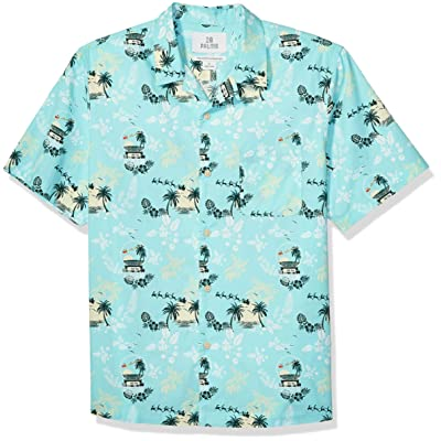 Brand - 28 Palms Men's Relaxed-fit 100% Cotton Holiday Christmas Hawaiian Shirt: Clothing