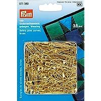 Prym 071 380 - Imperdibles curvados (38 mm, 150 unidades), color brass