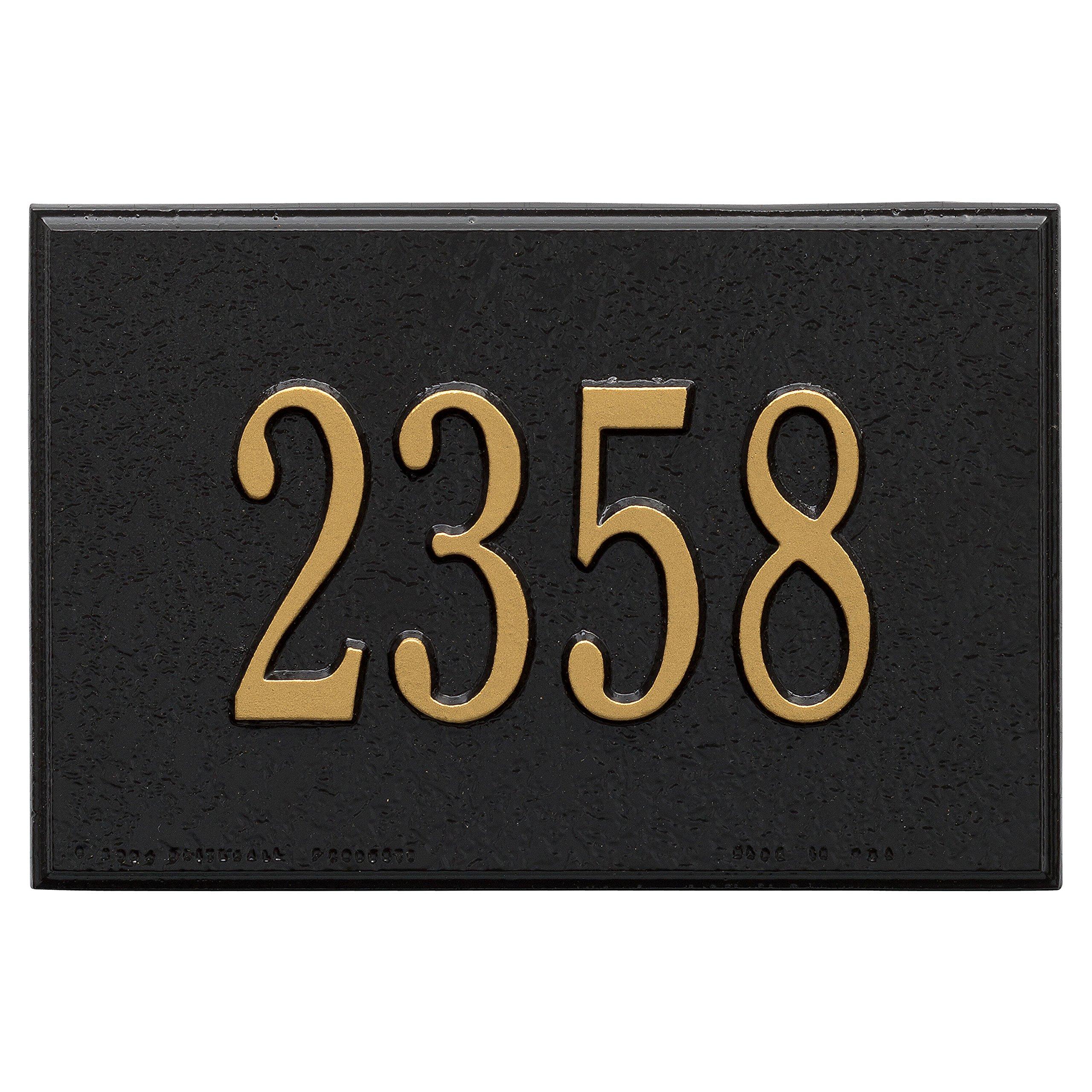 Custom Cast Aluminum Mailbox Numbers Plaque 1 or 2 Lines 9''W x 6''H