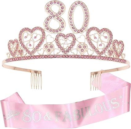80th Birthday Tiara, 80th Birthday Gifts for women