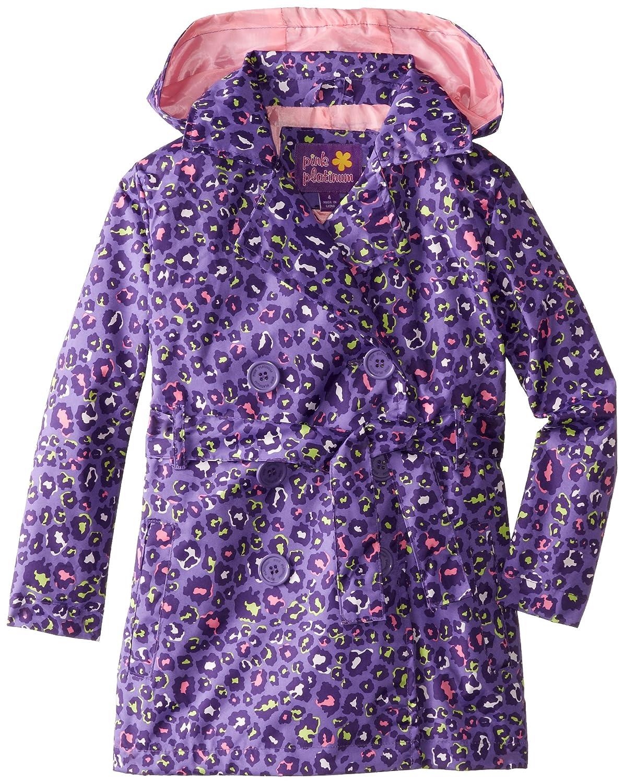 Pink Platinum Girls' Multicolor Animal Trench Jacket Pink Platinum Girls 2-6x PP82006