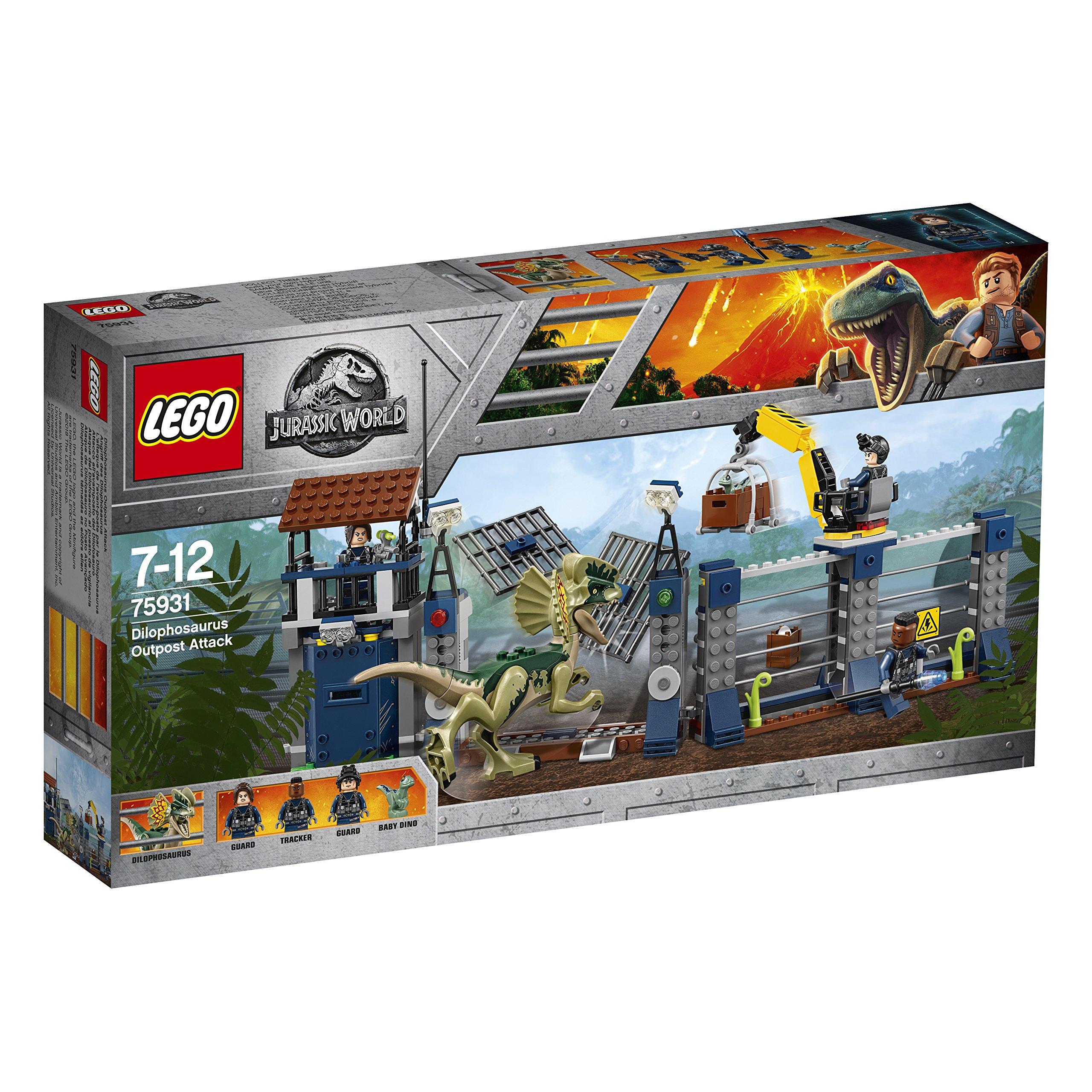LEGO 75931 Jurassic World Dilophosaurus Outpost Attack Playset, Dinosaur Figures, Build & Play Dinosaur Toys for Kids by LEGO (Image #3)