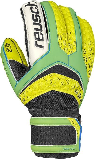 Reusch Soccer Pulse Prime G2 Ortho-Tec Goalkeeper Glove, Size 11, Yellow/Green, Pair