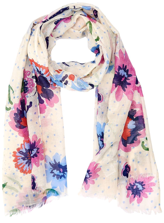 TOM TAILOR f/ür Frauen 2 Schal mit Blumenmuster