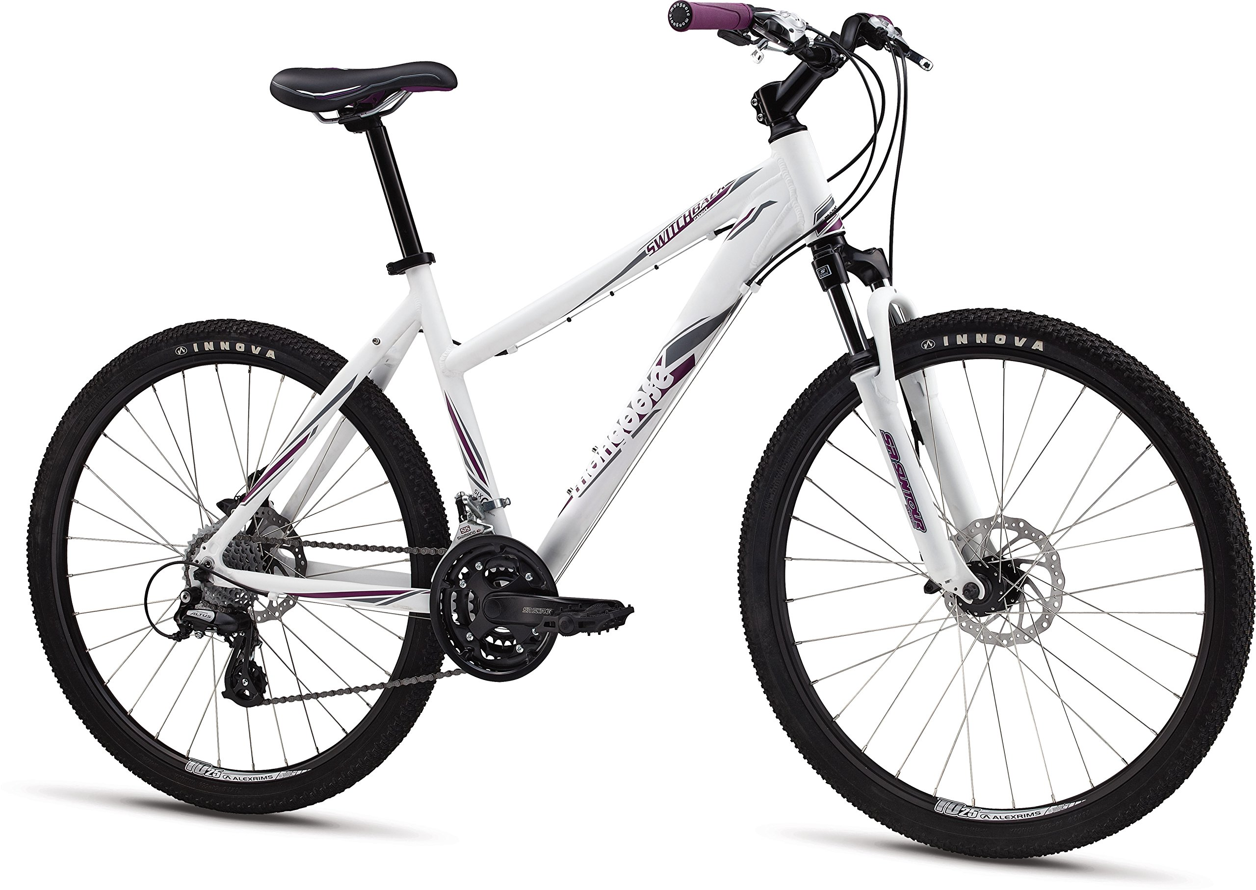 Mongoose M13SWIFS Women's Switchback Expert Mountain Bike with 26'' Wheels and Small Frame Size, White