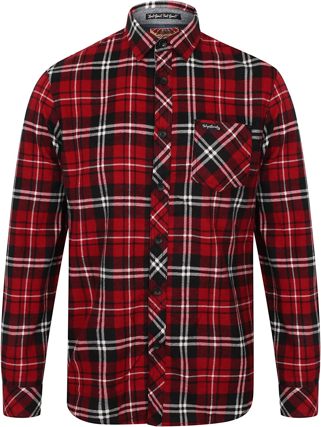 Tokyo Laundry Mens Dieppe Long Sleeve Cotton Flannel Shirt
