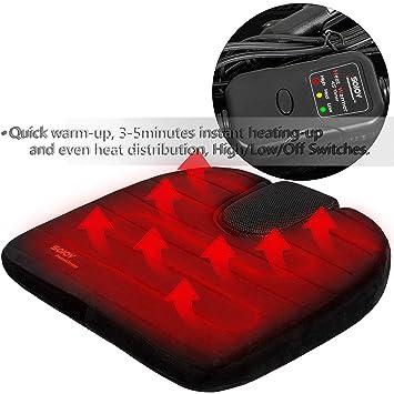 Amazon.com: sojoy Asiento de coche climatizada cojín con ...