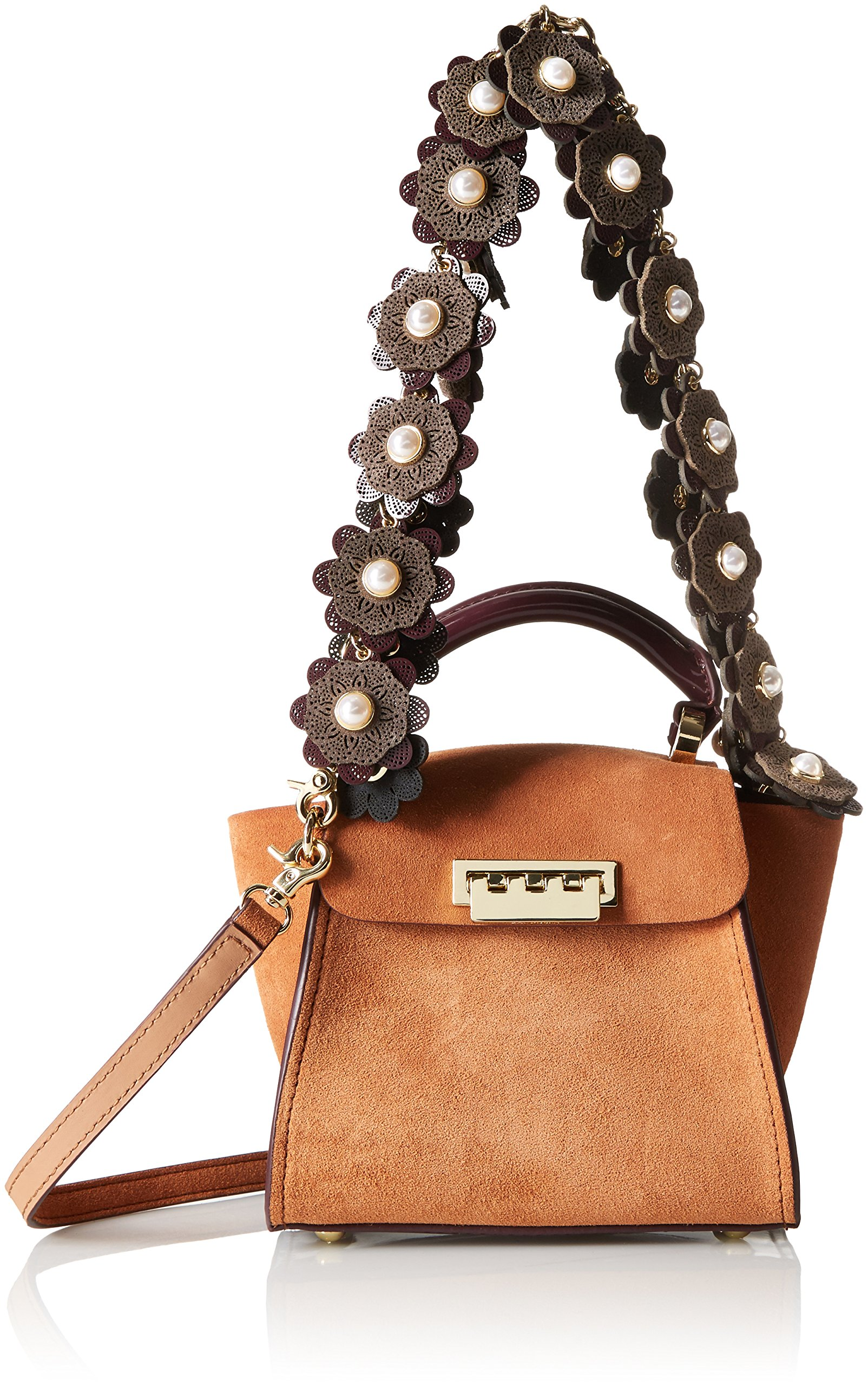 ZAC Zac Posen Eartha Iconic Top Handle Mini-Suede Colorblock W/ Baglace by ZAC Zac Posen (Image #1)