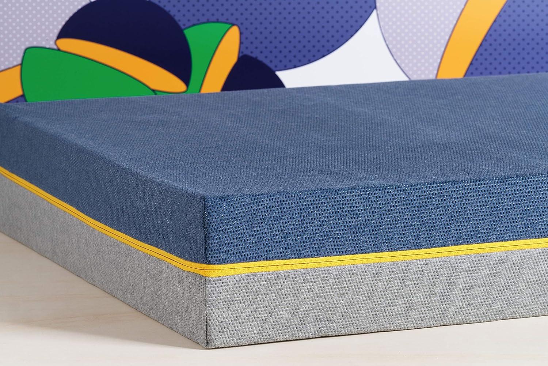 Tediber Colchón Doble Ted by 150x190cm - Colchón Inteligente y Reversible - Fabricado en Bélgica - Desenfundable y Lavable en Lavadora - 100 Noches de ...