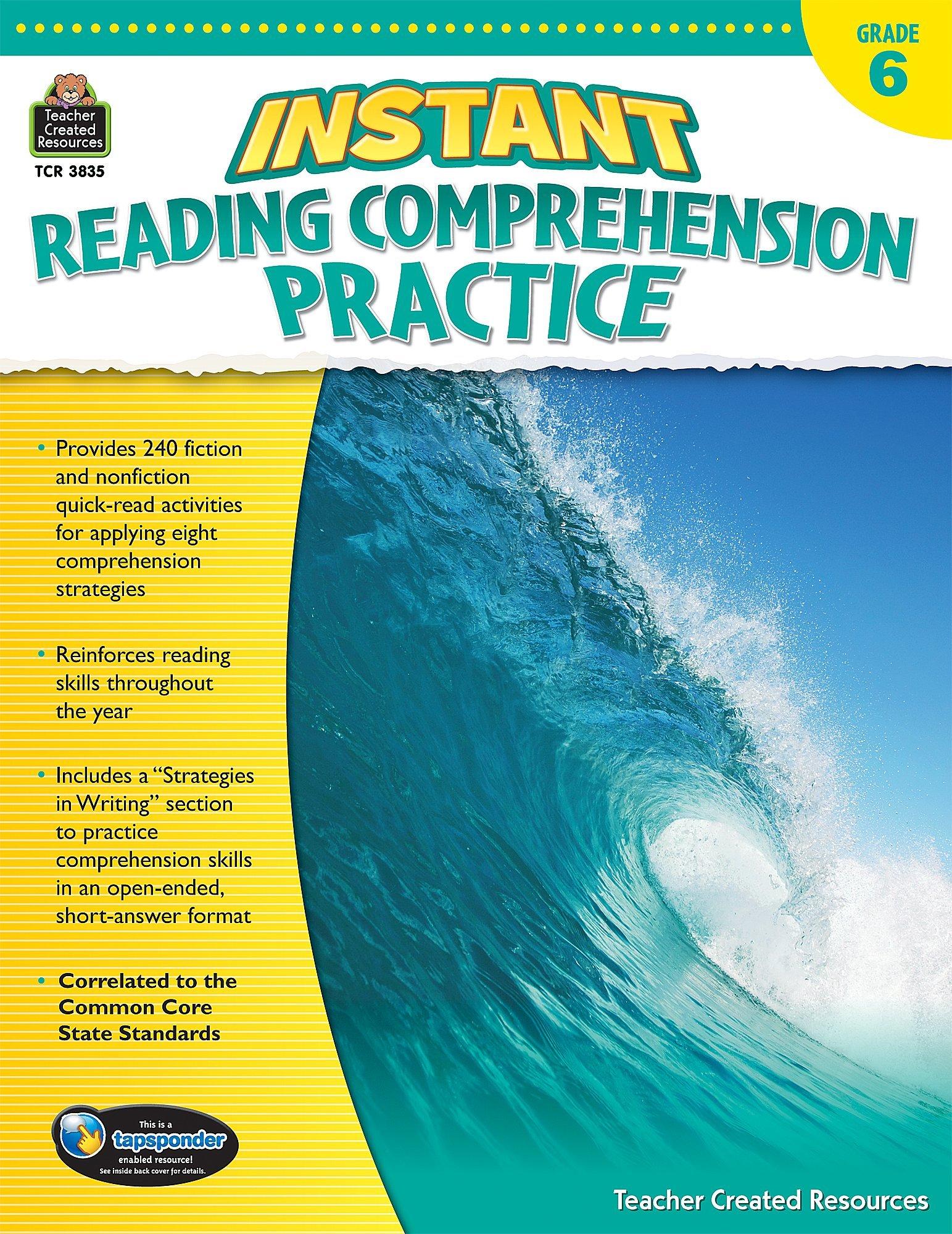 - Amazon.com: Instant Reading Comprehension Practice Grade 6